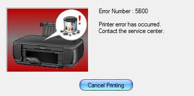 Canon 5B00 error